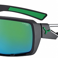 Очки СЕBE SHORTCUT Matt Black Green - 1500 Grey PC AF Green Flash Mirror Cat.3
