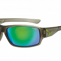 Очки СЕBE HAKA Matt Translucent Grey Lime - 1500 Grey PC Green Flash Mirror Cat.3