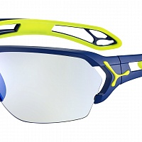 Очки СЕВЕ S'TRACK L Matt Navy Lime - Zone Vario Grey Cat.0-3 Blue AF