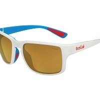 Oчки BOLLE SLATE Matte White - HD Polarized Brown Gold Cat.3
